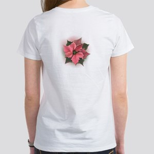 Pink Poinsettia Women's T-Shirt